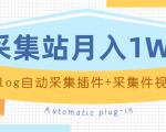 个人博客采集站月入1W+EMLOG自动采集插件+采集件视频教程