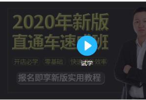 2020新版淘宝运营直通车实战玩法教程(价值299)